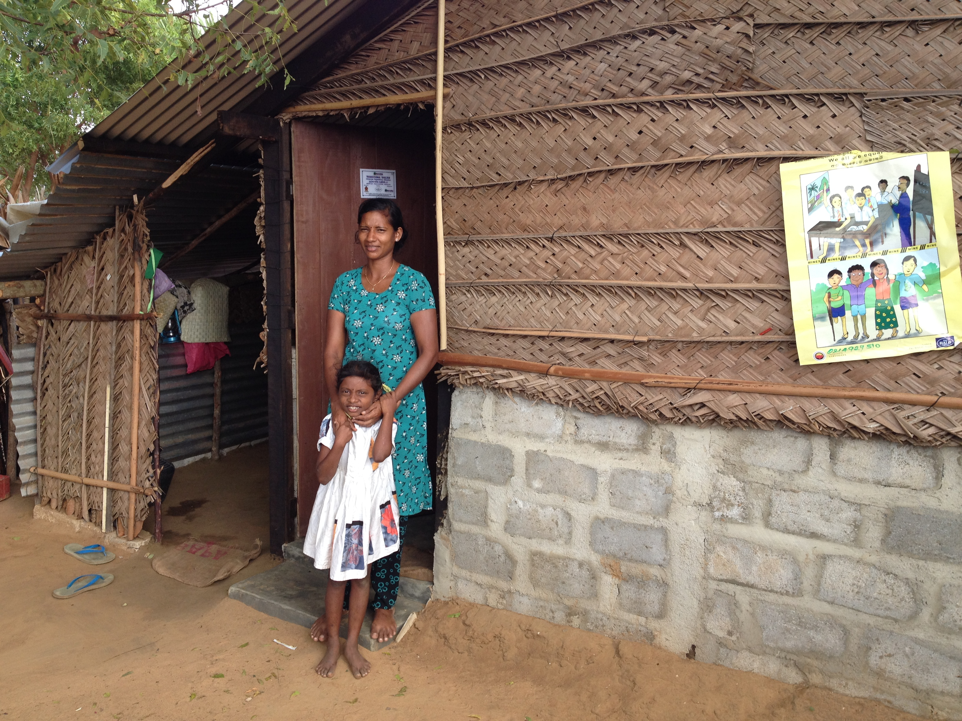 Completed Temporary Shelter - Palai in Jaffna